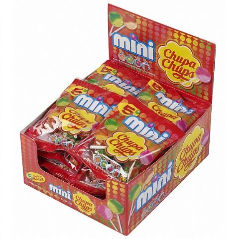 20 x Mini Chupa Chups Lollipop Sweets Lollies Party Bags (5 Lollies Per Bag) Wholesale Box